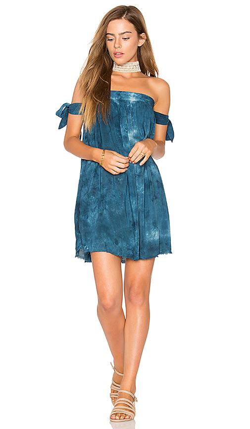 Blue Life Off Shoulder Dress in Blue