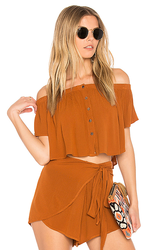 Blue Life Ojai Crop Top in Rust. - size L (also in S,XS)