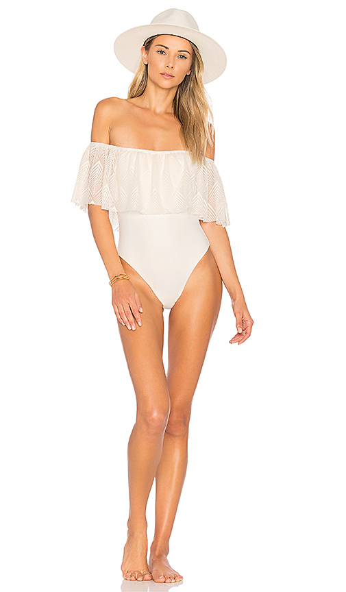 Blue Life Luna One Piece in White