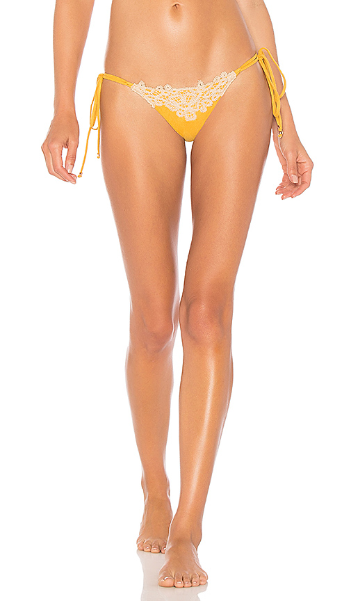 Blue Life Soleil Skimpy Bottom in Yellow