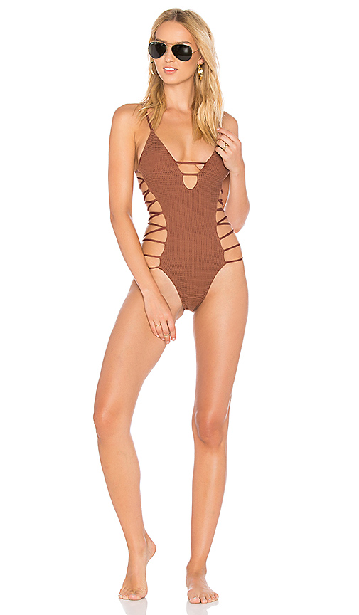 Blue Life Infinity One Piece in Brown