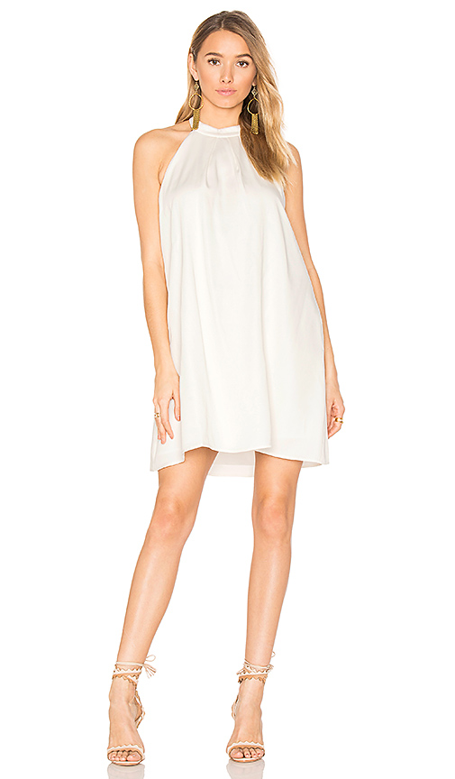 Bobi BLACK Woven Halter Dress in White