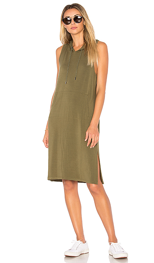 Bobi Terry Sweatshirt Dress in Army