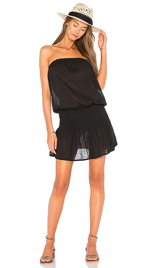 Bobi Gauze Strapless Dress in Black