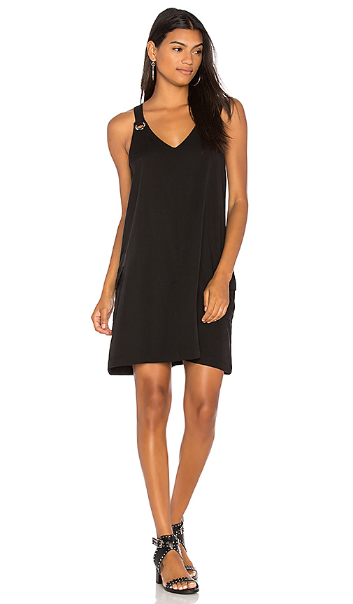 Bobi BLACK Grommet Tank Dress in Black