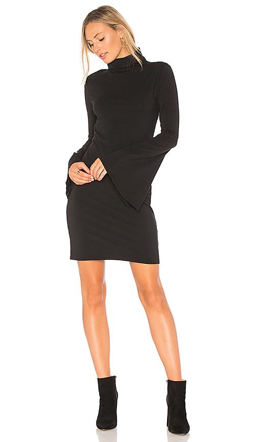 Bobi Bell Sleeve Dress in Black