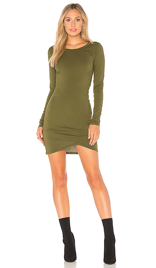 Bobi Supreme Jersey Wrap Dress in Green