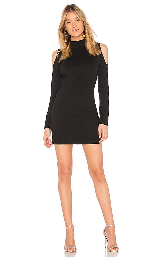 Bobi BLACK Knit Boucle Dress in Black