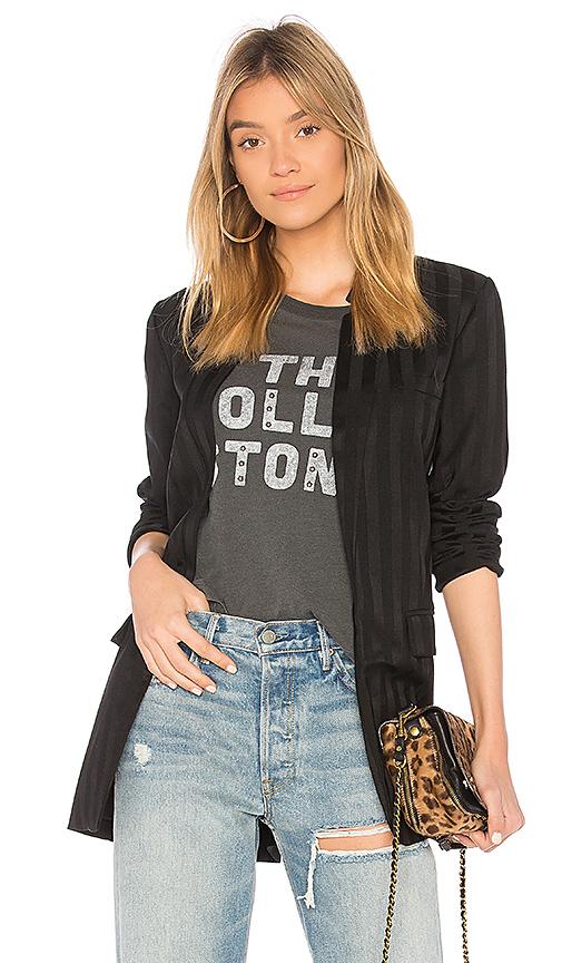 Bobi BLACK Shadow Stripe Blazer in Black