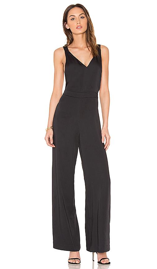 Bobi BLACK Cross Back Jumpsuit in Black. - size L (also in M,S,XS)