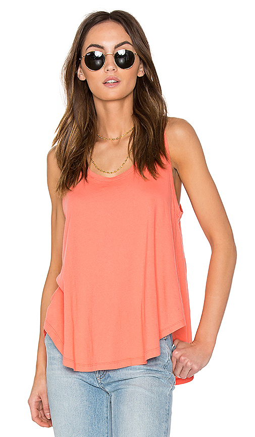 Bobi Light Weight Jersey Swing Tank in Coral