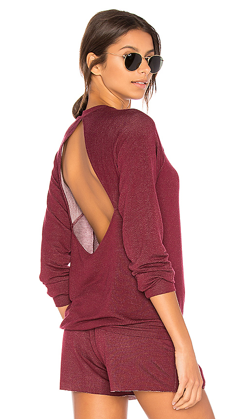 Body Language Seymour Pullover in Burgundy. - size L (also in M,S,XS)