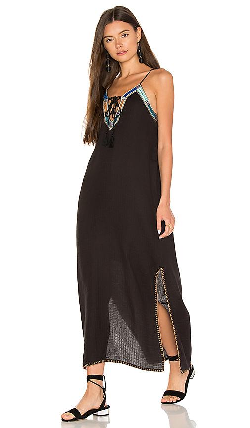 boemo Levisa Side Slit Maxi Dress in Black