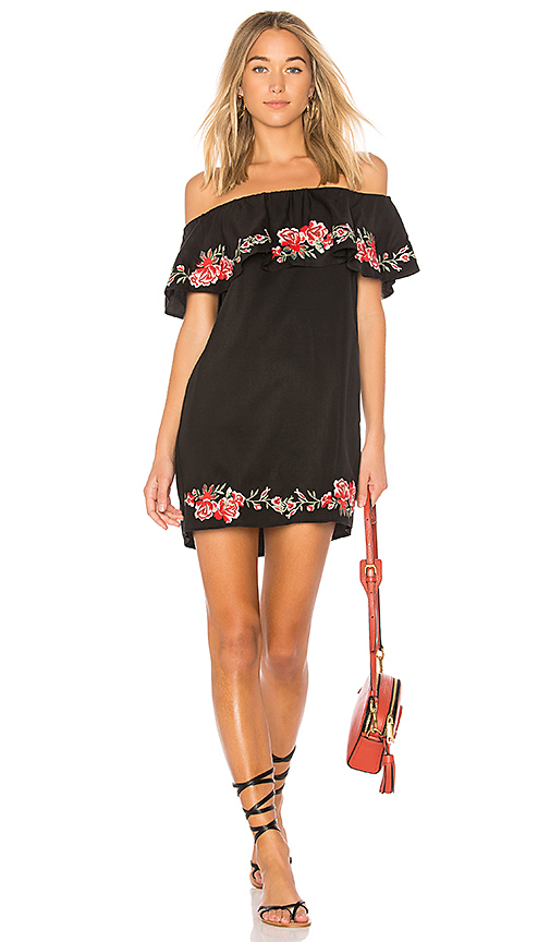 BEACH RIOT Alana Dress in Black