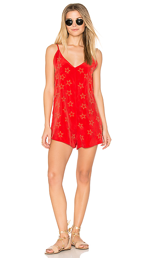 BEACH RIOT Ray Romper in Red