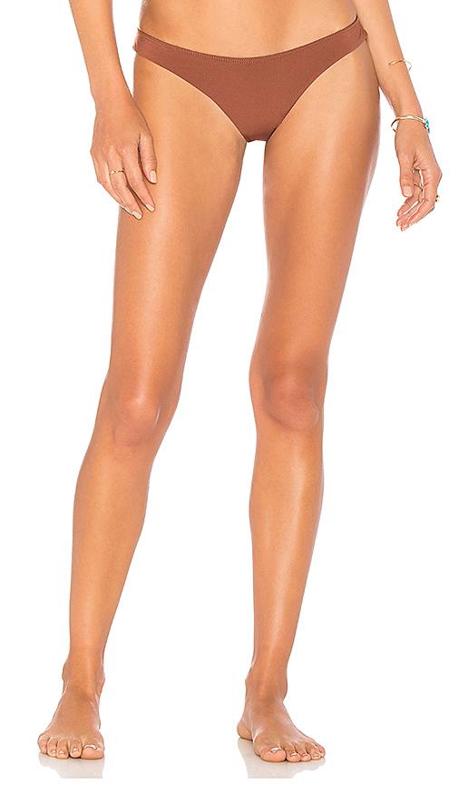 Bettinis Minimal High Leg Bottom in Rust