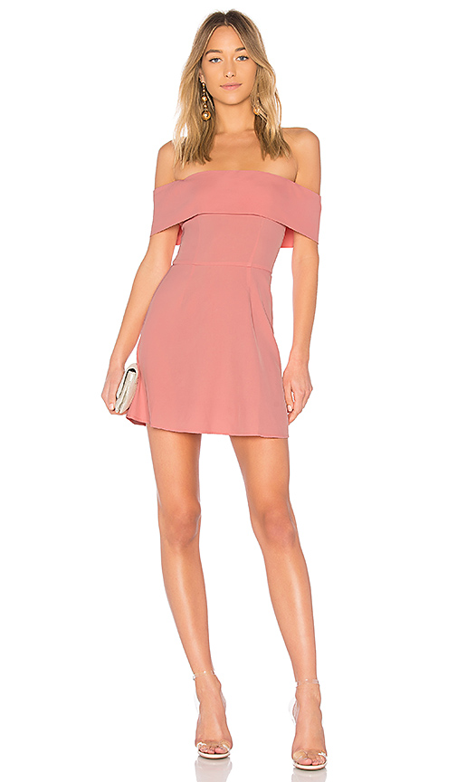 by the way. Aubrey Off Shoulder Dress in Pink. - size XXS (also in L,M,S,XL, XS)