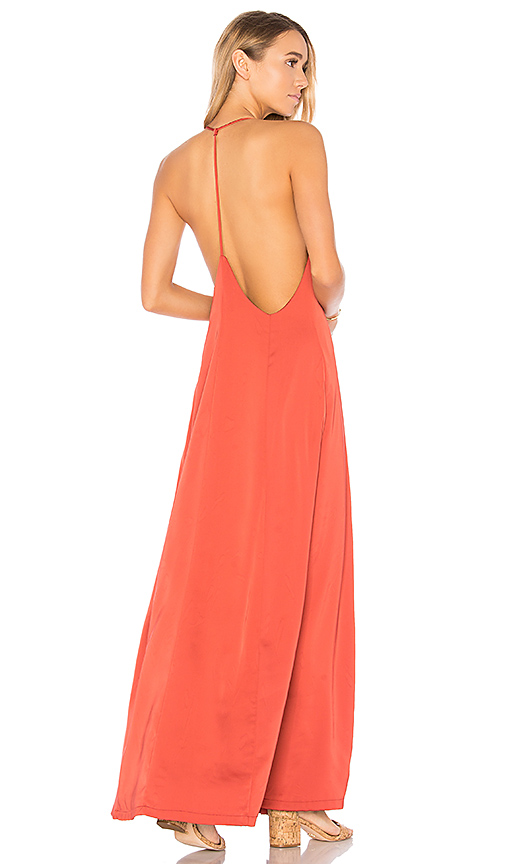 by the way. Tess Satin Maxi Dress in Red