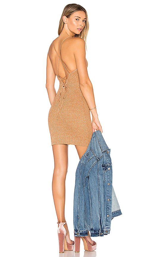 by the way Goldie Knit Mini Dress in Tan