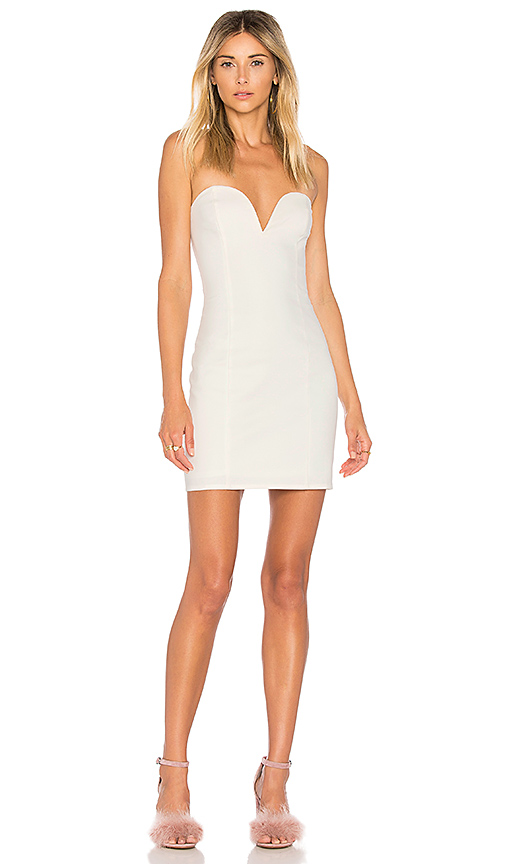 by the way Alessia Sweetheart Bodycon Mini Dress in Ivory