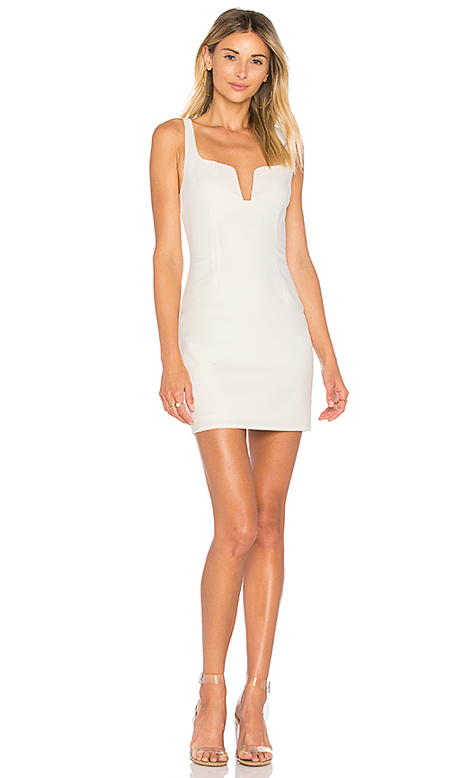 by the way Cici Square Neck Mini Dress in Ivory