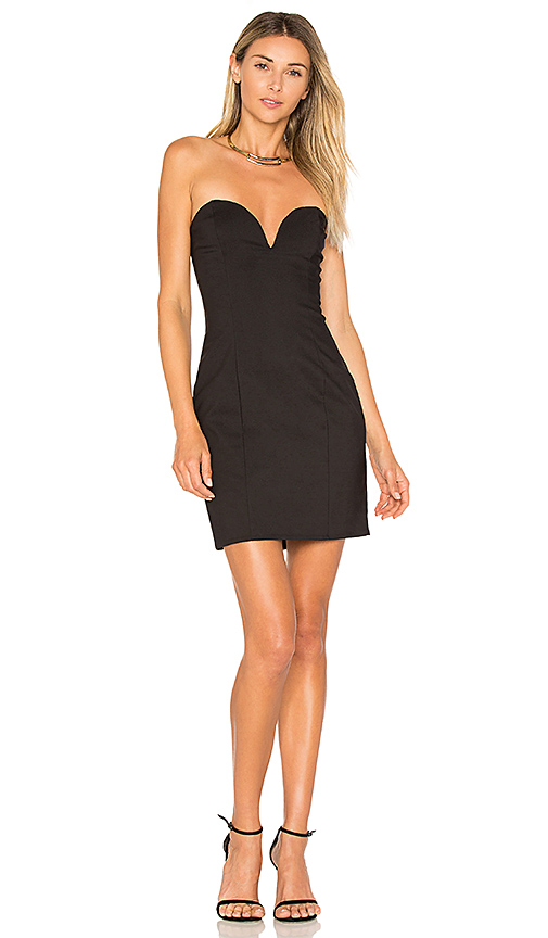 by the way Alessia Sweetheart Bodycon Mini Dress in Black