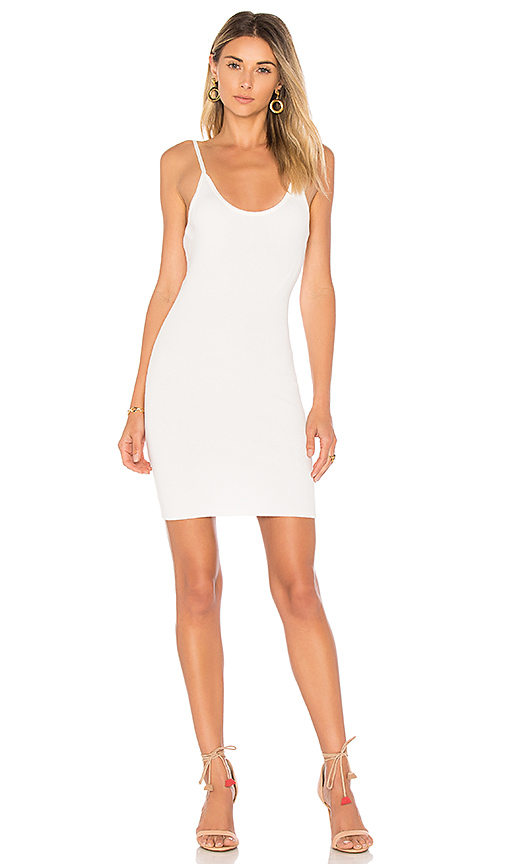 by the way Janne Backless Knit Mini Dress in White