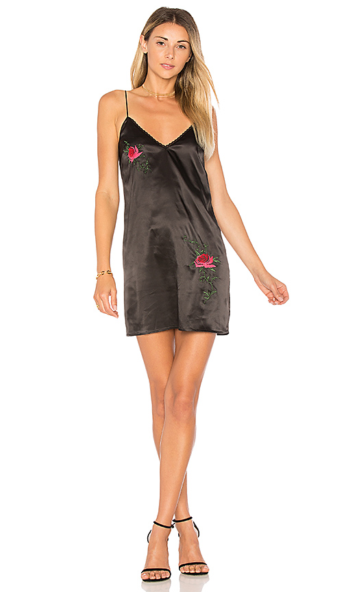 by the way. Kora Embroidered Cami Dress in Black