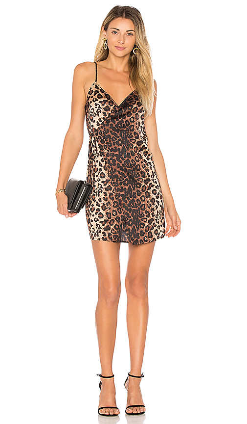 by the way. Jena Wrap Mini Dress in Brown. - size L (also in M,S,XL, XS)