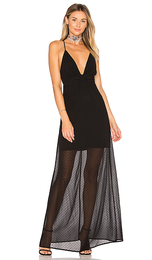 by the way. Heike Deep V Maxi Dress in Black