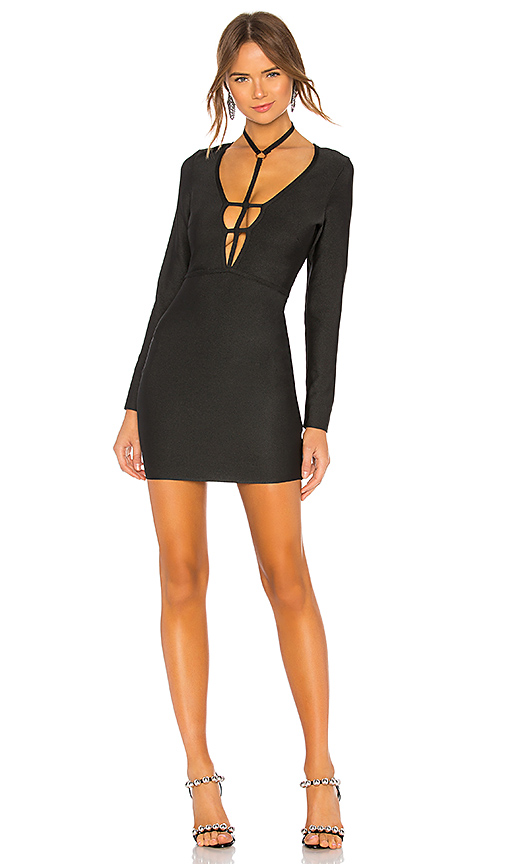 BY THE WAY. | By The Way. Amani Bandage Choker Dress In Black. - Size S (Also In XS,XXS) | Goxip