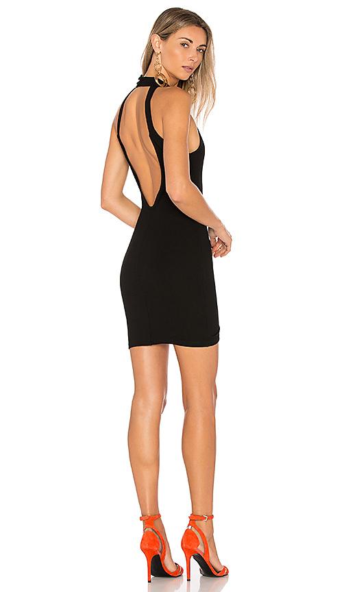 by the way Gracia Halter Bodycon Dress in Black