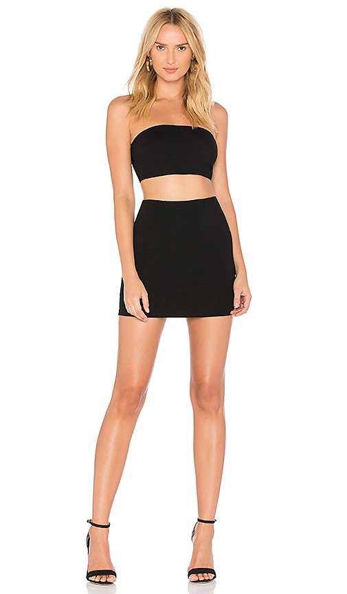 by the way Alise Bandeau Mini Set in Black