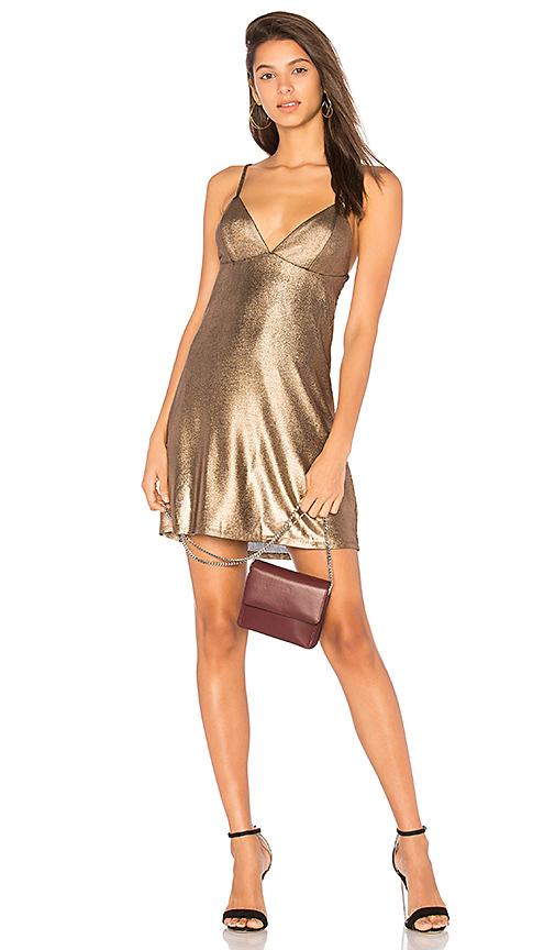by the way. Madison Metallic Knit Mini Dress in Metallic Gold