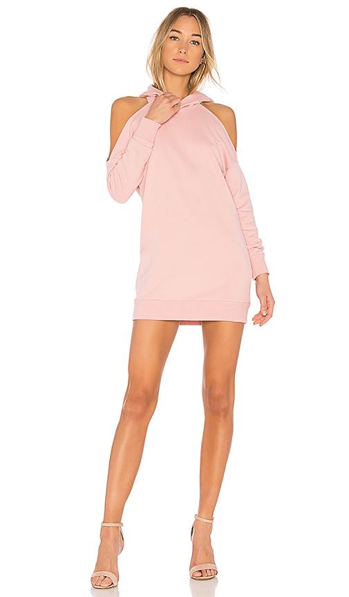 by the way Delia Cold Shoulder Sweatshirt Dress in Pink
