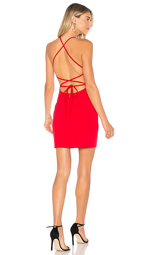 by the way. Solene Backless Mini Dress in Red