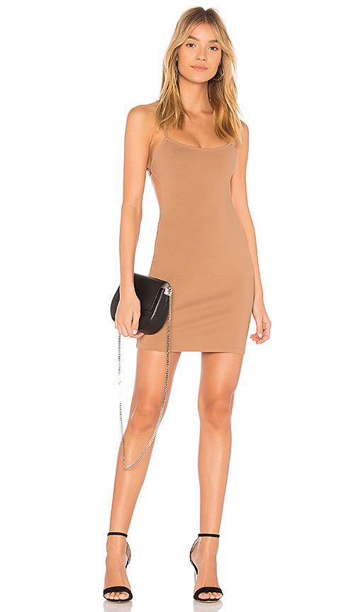 by the way. Solene Backless Mini Dress in Tan