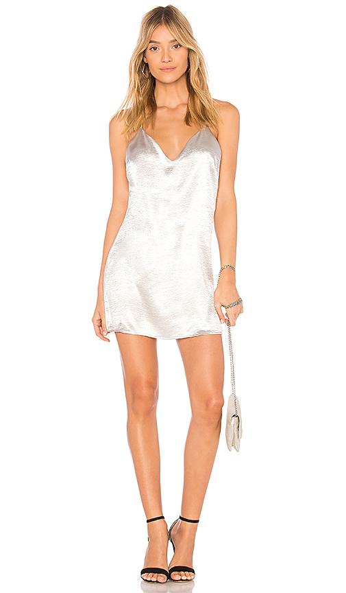 by the way. Lucia Metallic Mini Dress in Metallic Silver