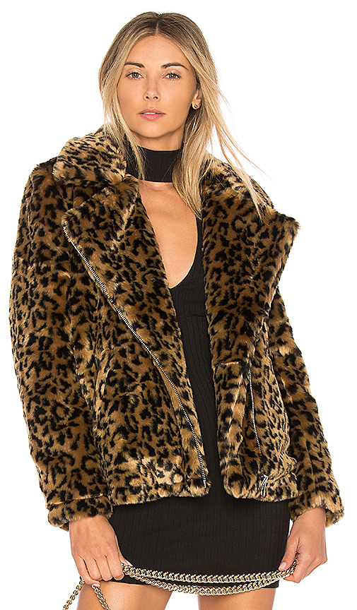 by the way. Dallas Faux Fur Coat in Brown. - size S (also in L,M,XL, XS, XXS)