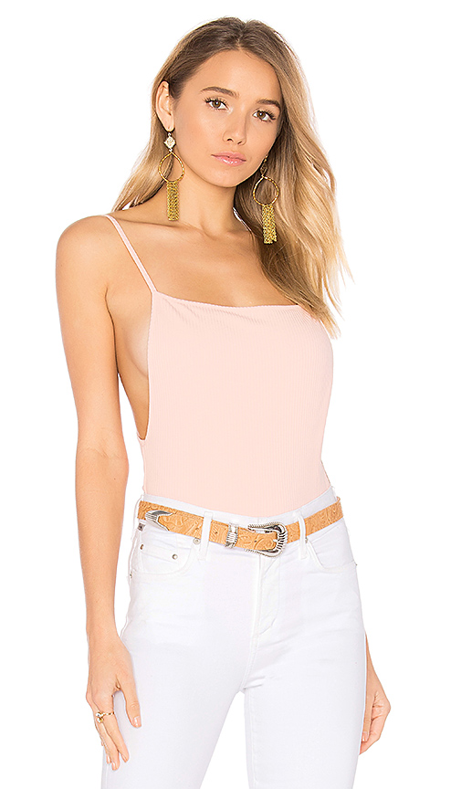 by the way Raelyn Backless Bodysuit in Blush