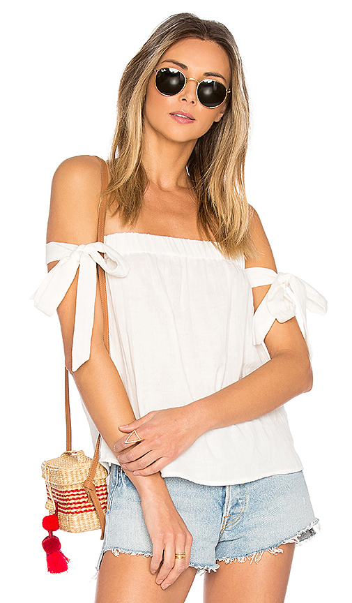 by the way Ora Off Shoulder Top in White