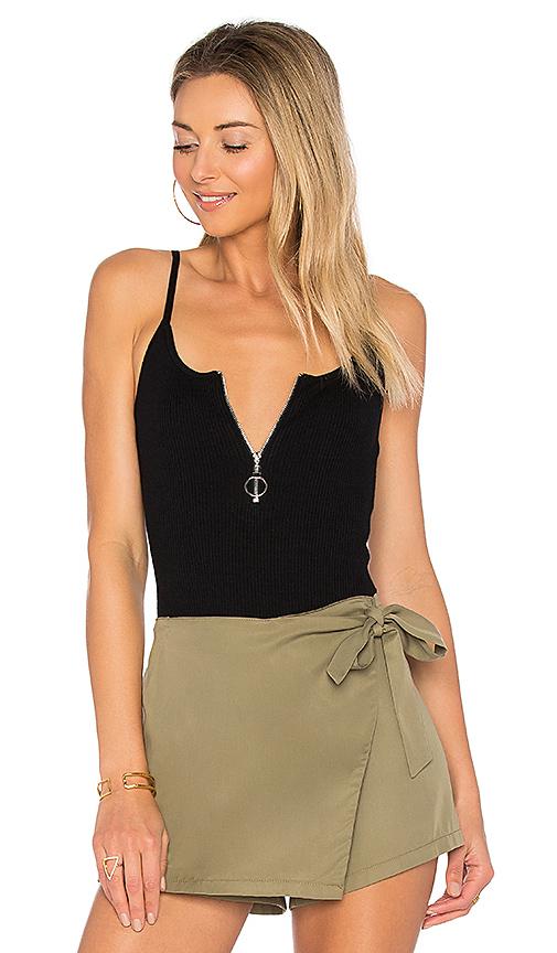 by the way Sydney Zip Knit Bodysuit in Black
