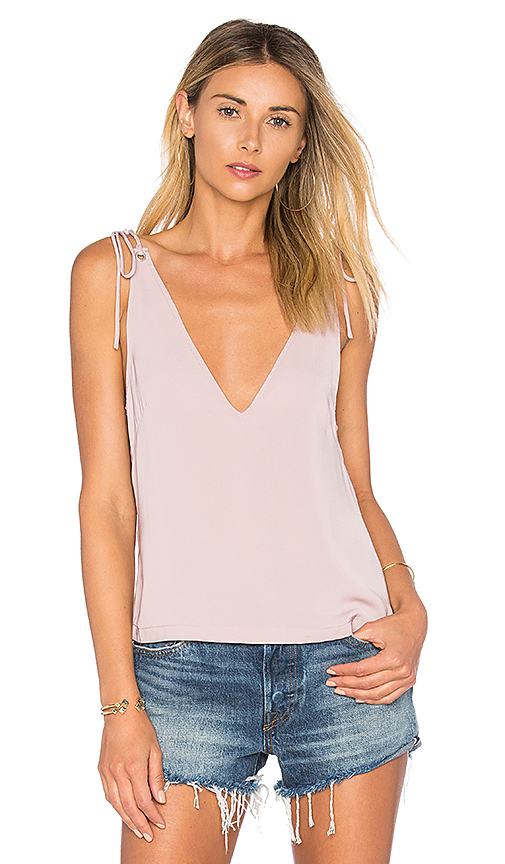 by the way Ellie Tie Tank in Mauve