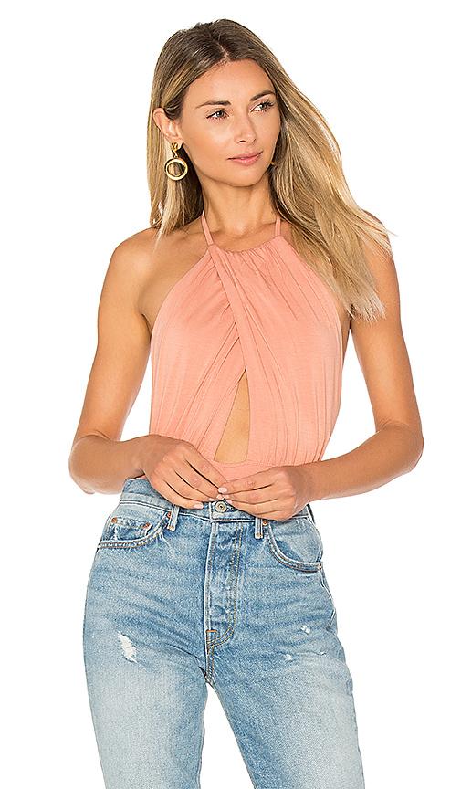 by the way Rosie Halter Bodysuit in Blush