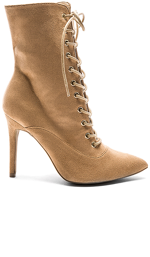 by the way. Natalie Bootie in Tan