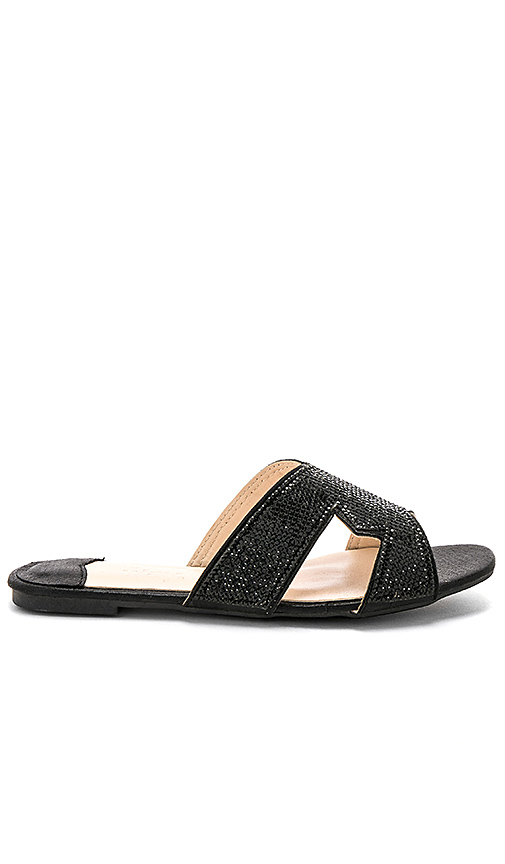 by the way Josee Sandal in Black