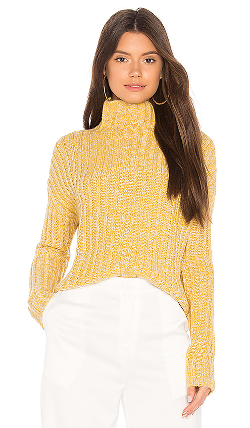 BROWN ALLAN Twisted Sweater in Yellow. - size L (also in M,S,XS)
