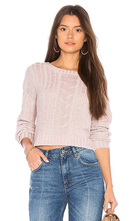 BROWN ALLAN Snow Dust Sweater in Pink. - size L (also in M,S,XS)