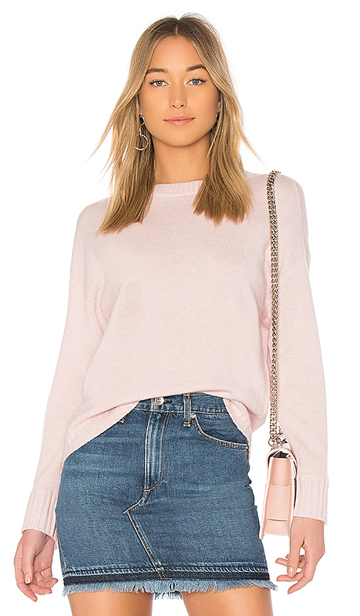 BROWN ALLAN The Crop Sweater in Pink. - size L (also in M,S,XS)