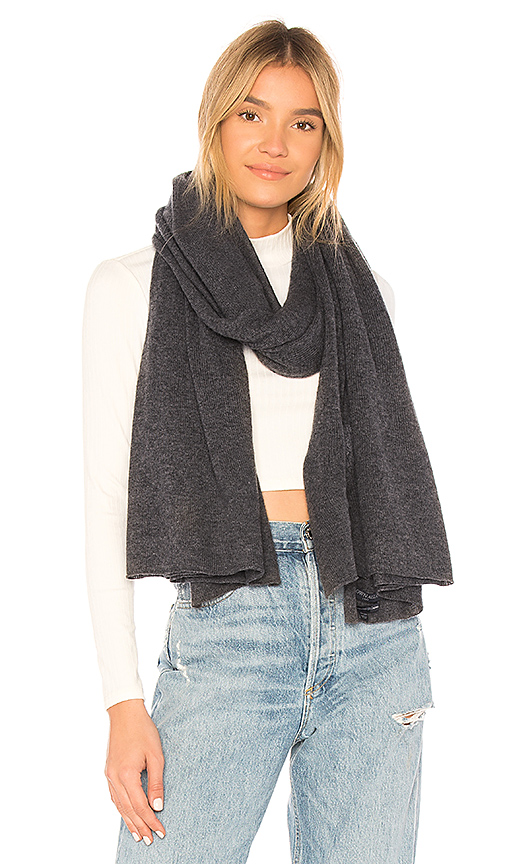 BROWN ALLAN The Jersey Travel Wrap Scarf in Gray